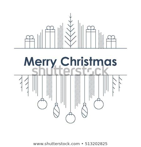 Minimális vidám karácsony prémium üdvözlet terv Stock fotó © SArts
