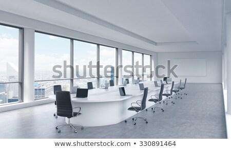 Bankügylet laptop tárgyalóterem 3D modern mutat Stock fotó © tashatuvango