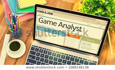 Oyun analist aranan 3D gazete turuncu Stok fotoğraf © tashatuvango