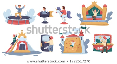 Boy climbing into tent Stock photo © IS2