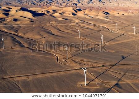 風力タービン 砂 ビーチ 自然 技術 旅行 ストックフォト © IS2