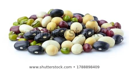 misto · secas · feijões · tigela · colher - foto stock © devon