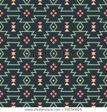 Aztec seamless vector pattern with arrows, retro Indian navajo fabric design, Tribal art Stock photo © RedKoala