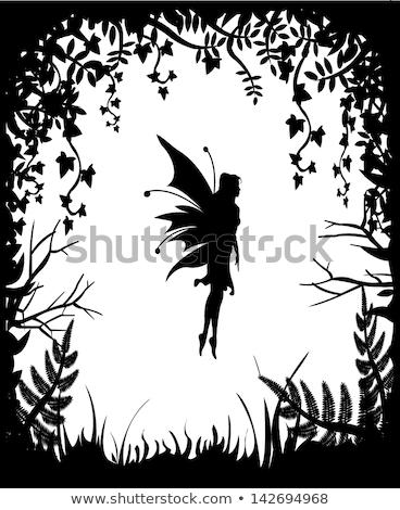лозы дизайна девушки профиль иллюстрация женщину Сток-фото © lenm