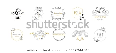 Vector logo bruiloft abstract sjabloon illustratie Stockfoto © butenkow