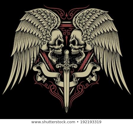 два кинжал пиратских эмблема череп короткий Сток-фото © sharpner