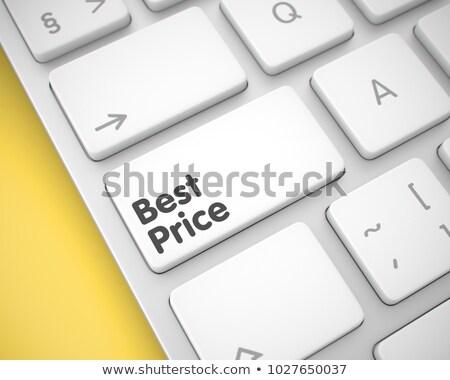Stock fotó: Legjobb · ár · üzenet · fehér · billentyűzet · numerikus · billentyűzet · 3D