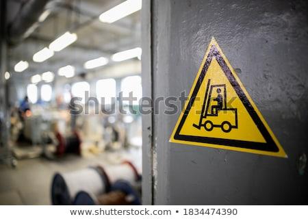 Entrepôt signe 3d illustration chef d'équipe affaires groupe Photo stock © 72soul