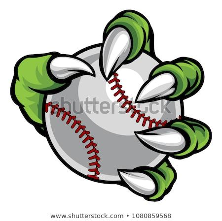 Monster or animal claw holding Baseball Ball Stock photo © Krisdog