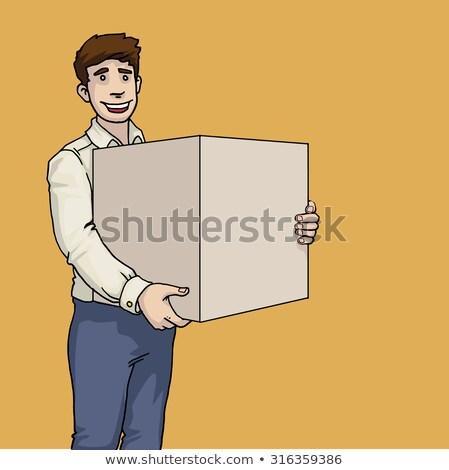 Hombre caja de cartón China producto paquete Foto stock © stevanovicigor
