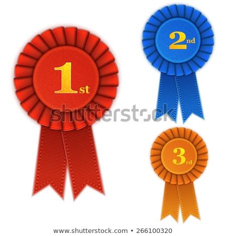 Primo posto vittoria premio testo vincitore congratulazione Foto d'archivio © studioworkstock
