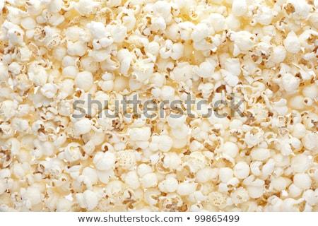 Popcorn gezouten textuur achtergrond website restaurant Stockfoto © pakete