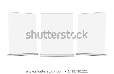 ロール アップ 広い バナー 透明な 空っぽ ストックフォト © romvo