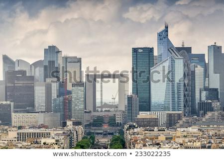 Parijs zakenwijk wolkenkrabbers glas moderne Stockfoto © Givaga
