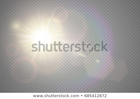 Abstract golden front sun lens flare transparent special light effect design. Vector blur in motion  stock photo © Iaroslava