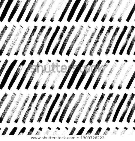 рисованной · чернила · бесшовный · полосатый · черный - Сток-фото © samolevsky
