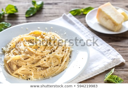 Spaghetti with pecorino cheese and pepper Stock photo © Melnyk