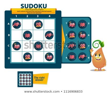 Játék szív logika gyerekek felnőttek oktatási Stock fotó © Olena