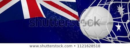 Futballabda gól net digitálisan generált ausztrál Stock fotó © wavebreak_media