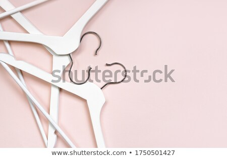 Wooden Hanger Pink Background- Stock photo © barbaliss