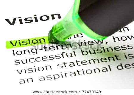 vision highlighted in green stock photo © ivelin