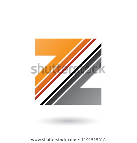 orange and grey letter z with diagonal stripes vector illustrati stock photo © cidepix