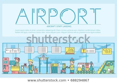 Flughafen · Einschiffung · Tor · halten · Ticket - stock foto © linetale