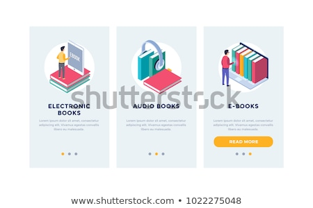 Ebook app interface template. Stock photo © RAStudio
