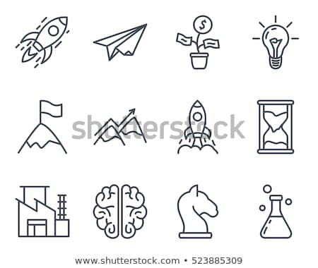 vector rocket icons startup launch and business stock photo © cifotart