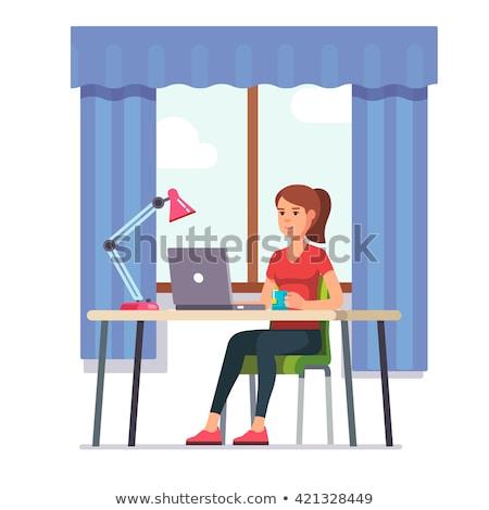 悲しい · 代 · 少女 · 泣い · 座って · 階 - ストックフォト © pikepicture