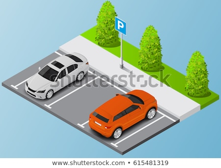 vector isometric street car parking stock photo © tele52