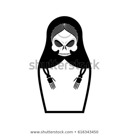 Crâne poupée mort sinistre Photo stock © popaukropa