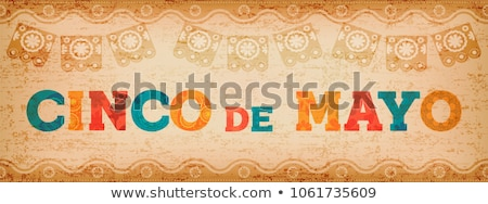 Mexico quote greeting card for mexican holiday Stock photo © cienpies