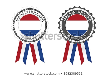 Modern vector Made in the Netherlands label isolated on white background, simple sticker with Dutch  Stock photo © kurkalukas