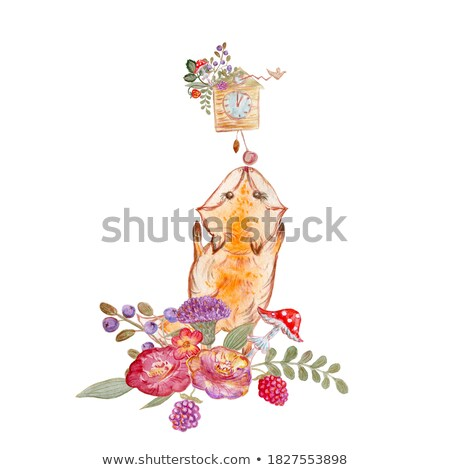 Cartoon печать часы шаблон иллюстрация фон Сток-фото © bluering