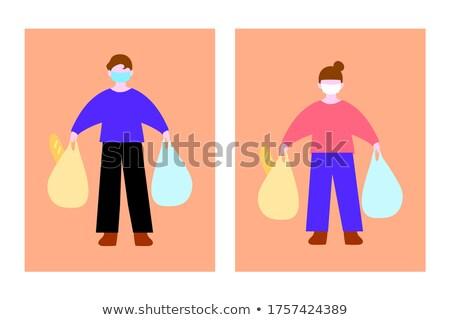 A man glossary shopping Stock photo © bluering