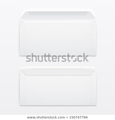 Two blank envelopes - opened an closed, with soft shadows, on gray background stock photo © Natali_Brill