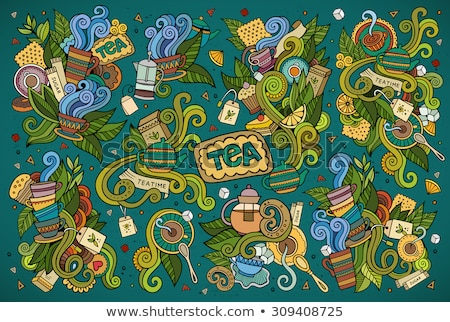 Vector doodle cartoon set of Indian objects and symbols Stock photo © balabolka