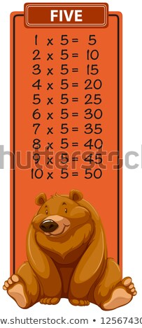 Five times table with bear Stock photo © bluering