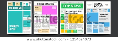 Newspaper Vector. Headlines, Text Articles, Images. World News Economy Headlines. Tabloid. Breaking. Stock photo © pikepicture