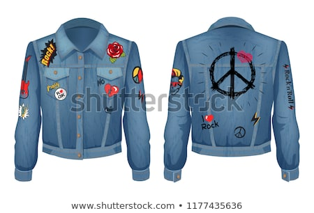 Jacket Made of Denim Patch Vector Illustration Stock photo © robuart