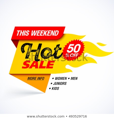 Hot Price on Mega Sale and Descount Week Banners Stock photo © robuart