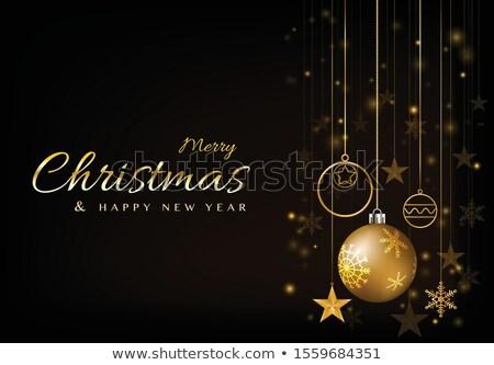 Prémium vidám karácsony üdvözlet zuhan csillámlás Stock fotó © SArts