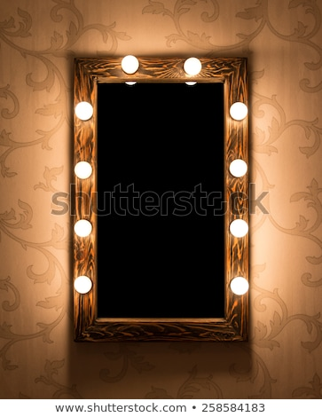 Make-up lugar espelho vidro quadro quarto Foto stock © ruslanshramko