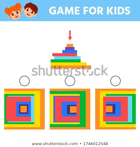 math worksheet for different shapes stock photo © colematt