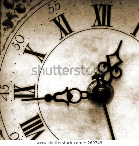 Antique looking clock face  Stock photo © inxti
