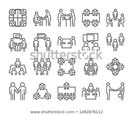 Reunión seminario personas mesa vector aislado Foto stock © robuart