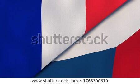 два флагами Франция Чешская республика изолированный Сток-фото © MikhailMishchenko