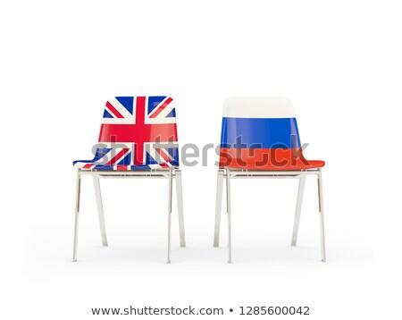Iki sandalye bayraklar Rusya yalıtılmış beyaz Stok fotoğraf © MikhailMishchenko