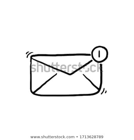Telefon információ jel kézzel rajzolt skicc firka ikon Stock fotó © RAStudio